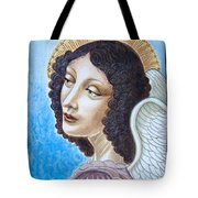 Archangel Contemplating The Holy Child Tote Bag