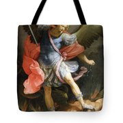 Archangel Michael Defeating Satan Tote Bag