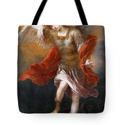 Archangel Michael Hurls The Devil Into The Abyss Tote Bag