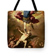 Archangel Michael Overthrows The Rebel Angel Tote Bag
