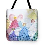 Archangels    Malchei Roshei Tote Bag by Hebrewletters Sl