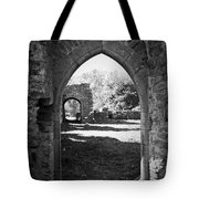 Arched Door At Ballybeg Priory In Buttevant Ireland Tote Bag