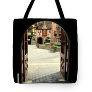 Arched Doorway With A Bavarian View Tote Bag