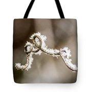 Arched Frosty Curlique Tote Bag