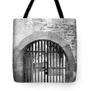 Arched Gate B W Tote Bag