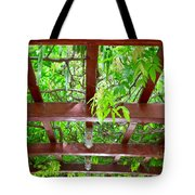 Arched Pergola With Leafy Green Canopy Tote Bag