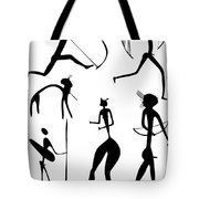 Archer And Other Figures Tote Bag