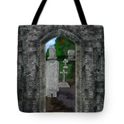 Arches And Cross In Ireland Tote Bag