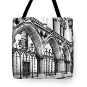 Arches Front Of The Royal Courts Of Justice London Tote Bag