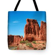 Arches National Park From A Utah Highway Tote Bag