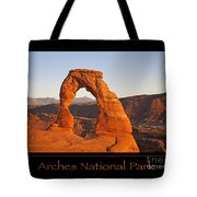 Arches National Park Poster Tote Bag
