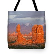 Arches National Park Sunset Tote Bag by Aaron Spong