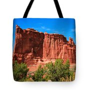 Arches National Park, Utah Usa - Tower Of Babel, Courthouse Tower Tote Bag