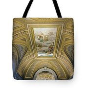 Architectural Artistry Within The Vatican Museum In The Vatican City Tote Bag