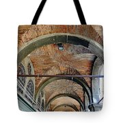 Architectural Ceiling Of The Building Owned By The Rialto Market In Venice, Italy Tote Bag