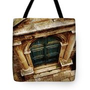 Architectural Green Door Dibrovnik Tote Bag