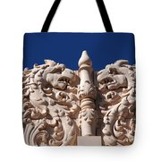 Architecture At The Lensic Theater In Santa Fe Tote Bag by Susanne Van Hulst