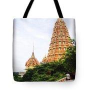 architecture at Wat Tham Sua Tote Bag