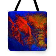 Architecture Detail  Amber Fort Palace India Rajasthan Jaipur Abstract Square 1a Tote Bag
