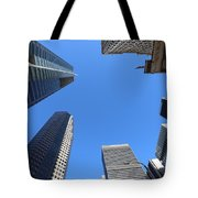 Architecture Tall Color Buildings Tote Bag