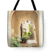 Archway And Stairs In Italy Tote Bag