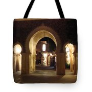 Archways At Night Tote Bag