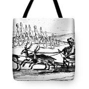 Arctic Sledding, C1618 Tote Bag