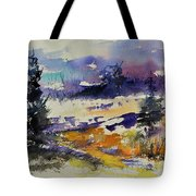 Ardennes Landscape Watercolor Tote Bag