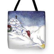 Are You In There Santa Tote Bag