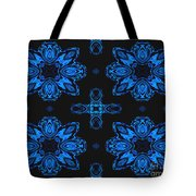 Area Blue Abstract Tote Bag