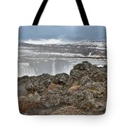 Area By Godafoss Waterfalls, Iceland Tote Bag