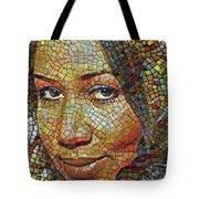 Aretha Franklin Tribute Mosaic Portrait 2 Tote Bag