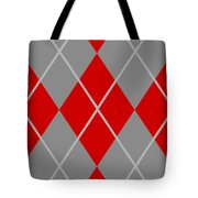 Argyle Diamond With Crisscross Lines In Paris Gray N02-p0126 Tote Bag