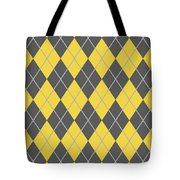 Argyle Diamond With Crisscross Lines In Pewter Gray N05-p0126 Tote Bag
