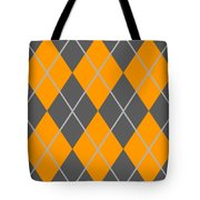 Argyle Diamond With Crisscross Lines In Pewter Gray T03-p0126 Tote Bag