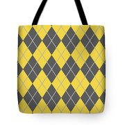 Argyle Diamond With Crisscross Lines In Pewter Gray T05-p0126 Tote Bag