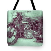 Ariel Square Four 3 - 1931 - Vintage Motorcycle Poster - Automotive Art Tote Bag