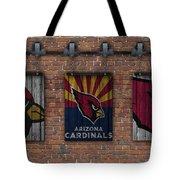 Arizona Cardinals Brick Wall Tote Bag
