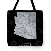 Arizona Map Music Notes 2 Tote Bag
