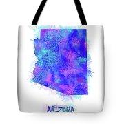 Arizona Map Watercolor 2 Tote Bag