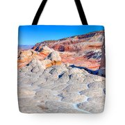 Arizona- Paria Plateau- White Pocket Tote Bag
