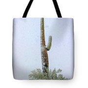 Arizona Snow Storm Tote Bag