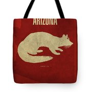 Arizona State Facts Minimalist Movie Poster Art Tote Bag