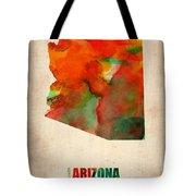Arizona Watercolor Map Tote Bag