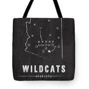 Arizona Wildcats / Ncaa College Football Art / Tucson Tote Bag by Damon Gray