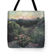Arkansas Mountain Sunset Tote Bag by Nadine Rippelmeyer