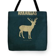 Arkansas State Facts Minimalist Movie Poster Art Tote Bag