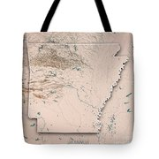Arkansas State Usa 3d Render Topographic Map Neutral Border Tote Bag
