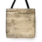 Arles View From The Wheatfields Tote Bag