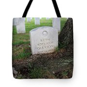Arlington Tombstone Lodged In Tree Trunk Tote Bag